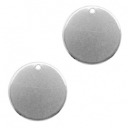 Charms stainless steel 20mm Silver