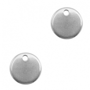 Charms stainless steel 10mm Silver