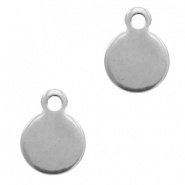 Charms stainless steel 11x8mm Silver