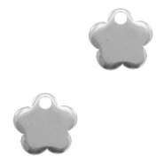 Charms stainless steel flower Silver