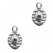 Charms stainless steel drop Silver