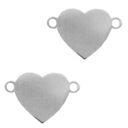 Charms stainless steel connector heart Silver
