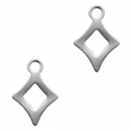 Charms stainless steel rhombus Silver