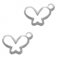 Charms stainless steel butterfly Silver