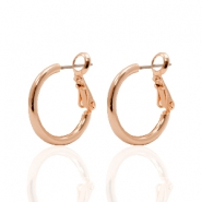 DQ creole earrings 18mm Rose Gold Plated