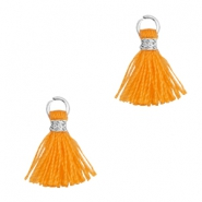 Tassels 1cm Silver-Flame Orange