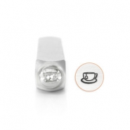 ImpressArt design stamps Tea Cup 6mm Silver