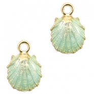 Basic Quality metal charms shell Gold-Gossamer Green