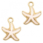 Basic Quality metal charms seastar Gold-White