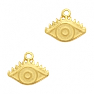 DQ European metal charms eye Gold (nickel free)
