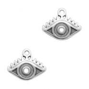 DQ European metal charms eye Antique Silver (nickel free)