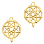 DQ European metal charms connector dream catcher Gold (nickel free)