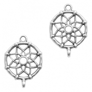 DQ European metal charms connector dream catcher Antique Silver (nickel free)