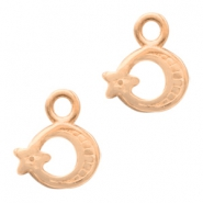 DQ European metal charms moon&star Rose Gold (nickel free)