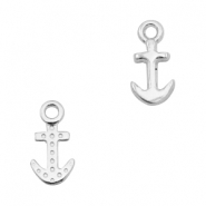 DQ European metal charms anchor Antique Silver (nickel free)