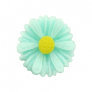 Daisy flower beads 13mm Oasis Green
