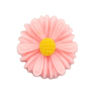 Daisy flower beads 13mm Carnation Pink