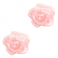 Rose beads 6mm Baby Pink-Silver Coating