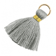Tassels 1.8cm Gold-Mirage Grey
