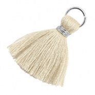 Tassels 1.8cm Silver-Bleached Sand Brown