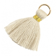 Tassels 1.8cm Gold-Bleached Sand Brown