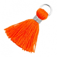 Tassels 1.8cm Silver-Neon Orange