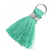 Tassels 1.8cm Silver-Mint Leaf Green