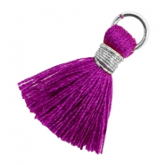 Tassels 1.8cm Silver-Electric Purple Violet