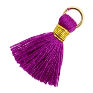 Tassels 1.8cm Gold-Electric Purple Violet