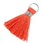Tassels 1.8cm Silver-Fusion Coral Red