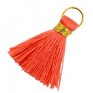 Tassels 1.8cm Gold-Fusion Coral Red
