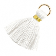 Tassels 1.8cm Gold-Bright White