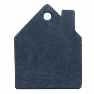 DQ European leather pendants house Dark Denim Blue