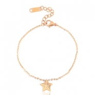 Stainless steel bracelets star Rose Gold