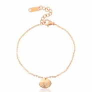 Stainless steel bracelets shell Rose Gold
