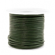 Benefit package DQ leather round 2 mm Army Green Metallic