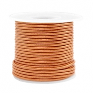 Benefit package DQ leather round 2 mm Copper Gold Metallic
