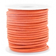 Benefit package DQ leather round 3 mm Antique Orange