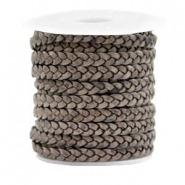 Benefit package Flat braided 5 mm DQ leather Vintage Taupe