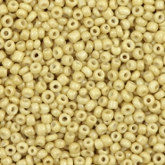 Glass seed beads 12/0 (2mm) Honey Mustard Green
