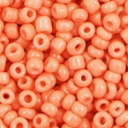 Glass seed beads 6/0 (4mm) Mandarin Sweet Orange