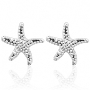 Trendy earrings studs seastar Silver