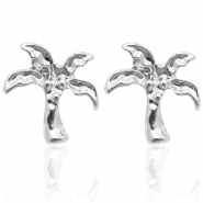 Trendy earrings studs palm tree Silver