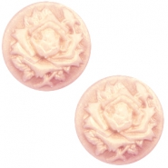 Basic cabochon cameo 20mm rose Vintage Rose-Antique Gold
