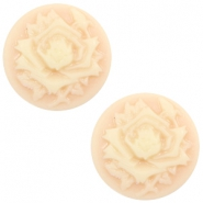 Basic cabochon cameo 12mm rose Light Peach-Beige