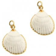 Shell bead specials Kockel Off White-Rose Gold