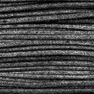 Waxed cord metallic 1.0mm Anthracite Black