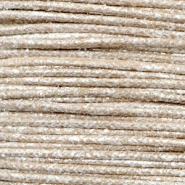 Waxed cord metallic 0.5mm Tan Grey