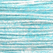 Waxed cord metallic 0.5mm Pacific Blue
