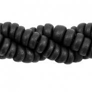 Coconut beads disc 8mm Black (natural colour of coconut)